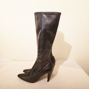Nine West Black Tall Boots Size 7.5